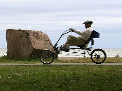 Recumbent Bicycle on Recumbent Bicycle